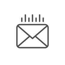 Mail Sending Line Outline Icon
