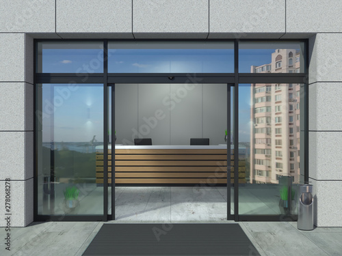 Fotografia Automatic sliding open doors office