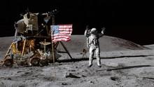 3D Rendering. Astronaut Jumpin...