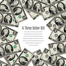 3 Dollar Bills Frame This Spac...
