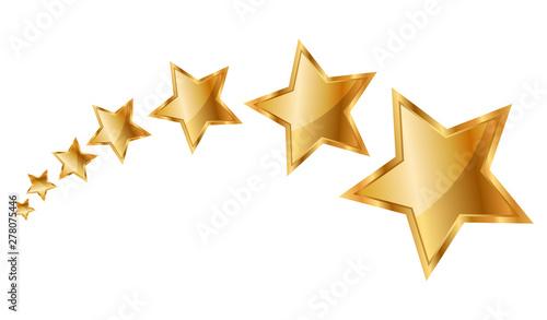 Valokuva Vector illustration gold stars