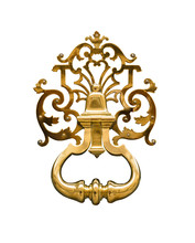 Door Knocker Made Of Brass On ...
