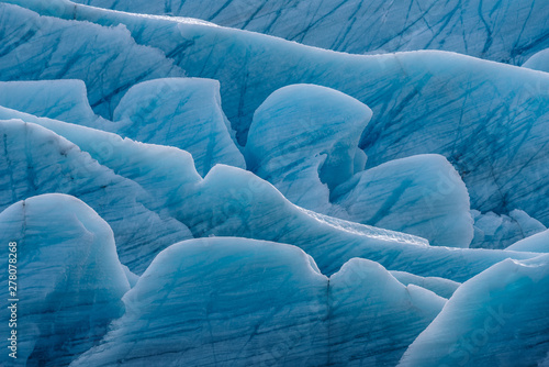 Printed kitchen splashbacks Glaciers Closeup glacier structure from Iceland