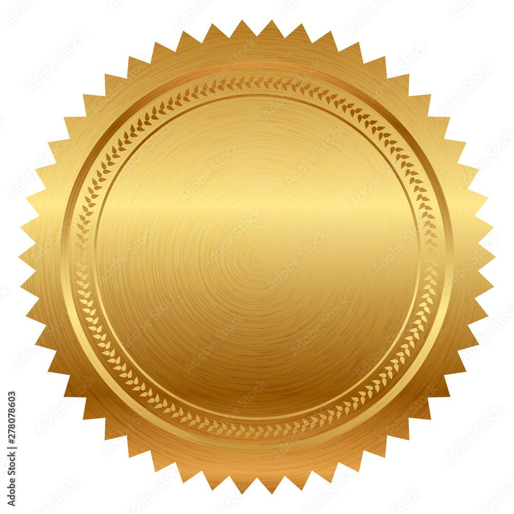 Fototapeta Vector illustration of gold seal