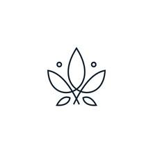 Monoline Cannabis Leaf Logo De...