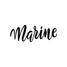 Marine Black And White Card. I...