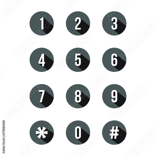 Valokuva keypad number icon design vector