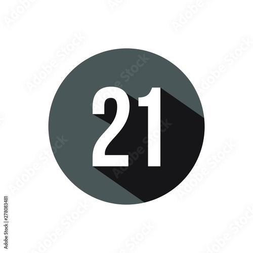 Tela 21 number design vector