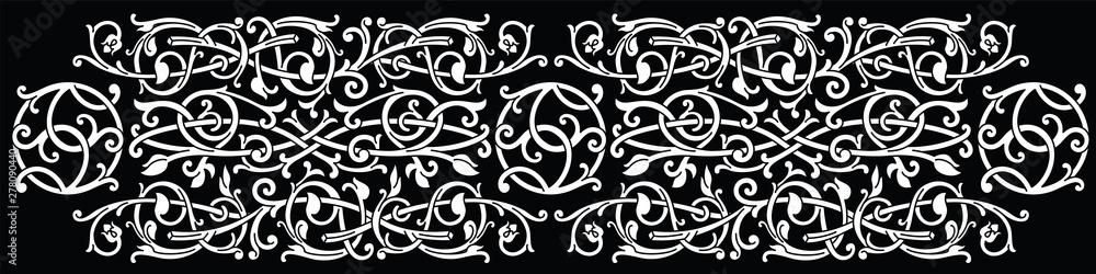 Fototapeta Celtic pattern ornament decoration design element.
