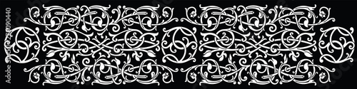 Fotografia Celtic pattern ornament decoration design element.