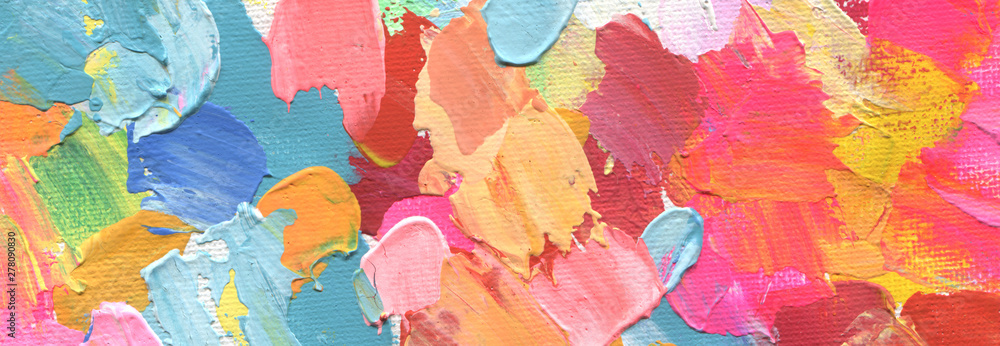 Fototapety, obrazy: Abstract acrylic and watercolor painting. Canvas background.