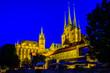 Leinwanddruck Bild - famous old cathedral in erfurt