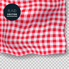 Tablecloth Or Plaid Realistic ...
