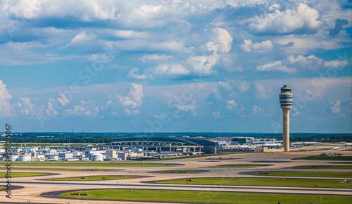 Photo Runways and the Control Tower at Atlanta's Hartsfield-Jackson Airport