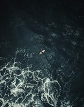 Small Kayaker Big Ocean