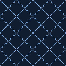 Seamless, Pattern, Indigo Blue, Geometric, Batik, Vector, Deco, Dyed Gradient, Midnight Navy, Monochrome, Asian Fusion, Japanese Style, Kimono Design, Bandana Print, Japan, Mosaic, Ornate, Tiles, Vint