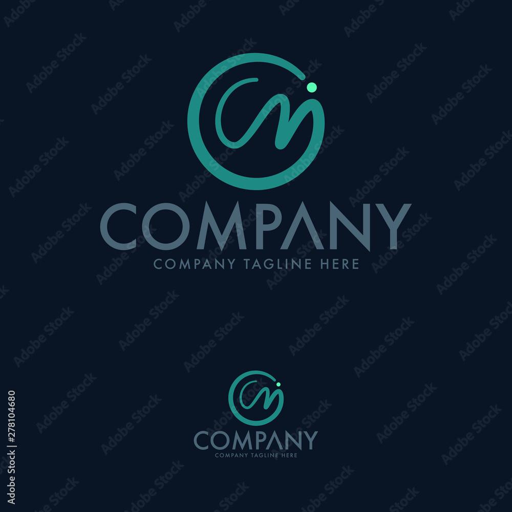 Fototapeta Letter C M Logo Design Template Vector