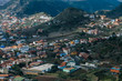 Beautiful view on the village of Las Mercedes in the mountainous park Anaga in Tenerife in the Canaries