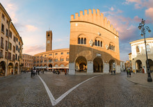 Panorama Of Treviso Prefecture In The Evening