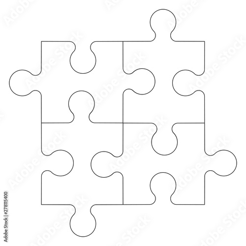 Puzzle icon in trendy style design. Vector graphic illustration. Fototapet