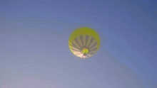 Hot Air Baloon Flying On Blue ...