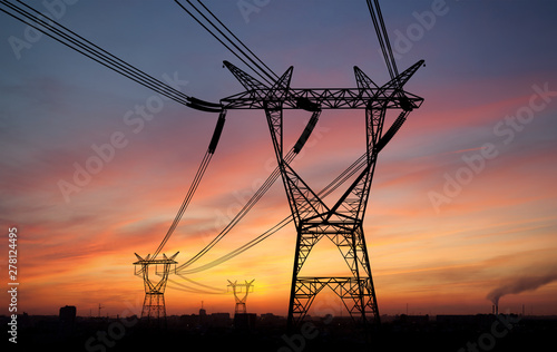 Carta da parati Electricity power pylons