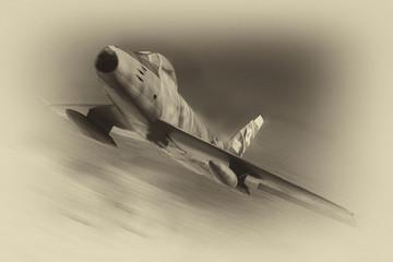 old f 86 jet fighter plane ...