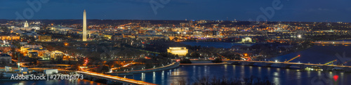 Fotomural  Panorama Top view scene of Washington DC down town which can see United states C