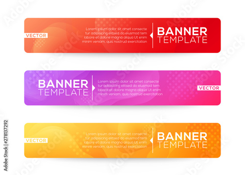 Fototapeta Abstract Web banner design background or header Templates. Fluid gradient shapes composition with colorful bright colors obraz