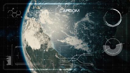 Hi-Tech User Interface, Head Up Display, Earth