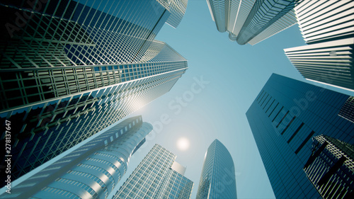 Fotografía  Skyscrapers, Business Buildings, Business Center