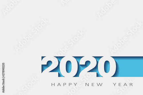 Fototapeta 2020 happy new year, year of the rat, design 3d, illustration,Layered realistic, for banners, posters flyers obraz