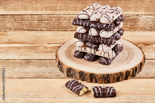 One Broken Cookie And Long Sticks Shortbread Cookies In Dark And