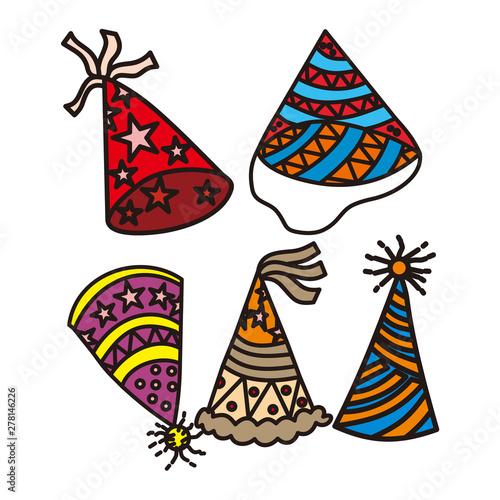 Printed kitchen splashbacks Indians Birthday Hat Design Graphic Template Vector