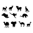 vector silhouettes of wild animals