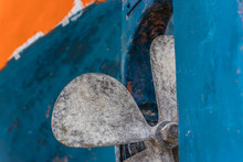Close Up Detail Of A Boat Propeller