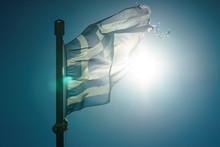 Greek Flag Waving O Wind.