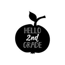 Hello Second Grade. Vector Ill...