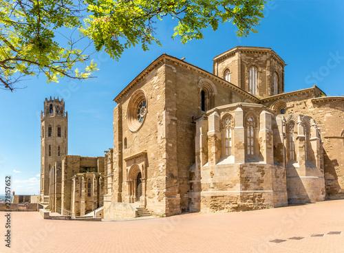 View at the Seu Vella Cathedral of Santa Maria in Lleida - Spain