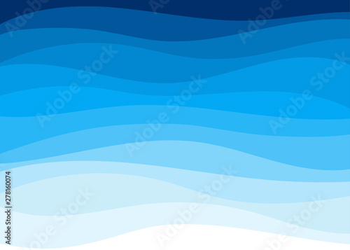 Fototapety, obrazy: Abstract blue wave shapes concept background