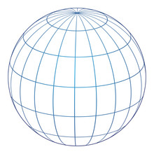 Vector Illustration Of Globe Icon