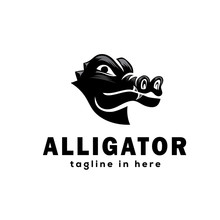 Crocodile Profile Head Logo Design Inspiration