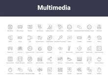 Multimedia Outline Icons