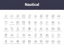 Nautical Outline Icons