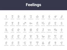 Feelings Outline Icons