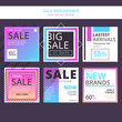 Set of modern design banner template in sale day. Beautiful design and layout