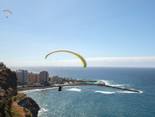 Paragliding Above Cliffs Of  P...