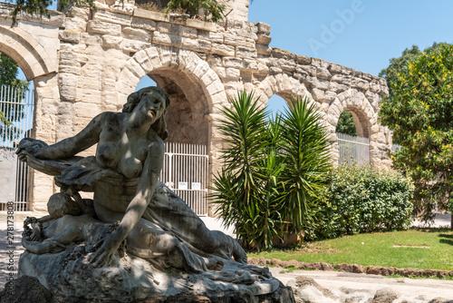 Tela Niobe sculpture in Summer Garden in Arles France