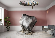 Meteor Falling Into The Living...