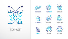 Collection Of Logos. Technolog...